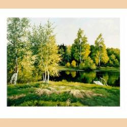 Пейзаж с прудом