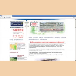 Разработка сайта Домовой